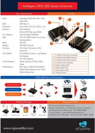 Flyer Design GPS Tracking Device - Rajawali
